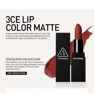 New 3CE Matte Lip Color #909 Smoked Rose